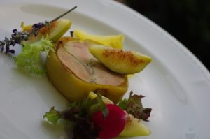ristorante villa garzoni foie gras mela rid