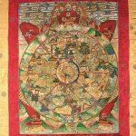 Bhavachakra, La grande Ruota della vita, dipinto a tempera su tessuto, Nepal, XX secolo
