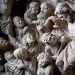 Particolare della lastra della crocifissione