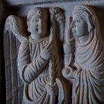 Particolare del pulpito della chiesa di San Michele a Groppoli