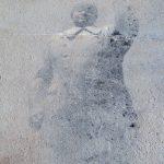 Particolare dell'opera Mao, 1999, libro, sabbia su fotografia su cartone