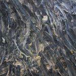 Particolare dell'opera Fur Walther von der Vogelweide, 2013, acrilico, emulsione, olio e gommalacca