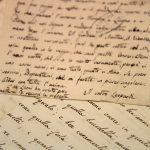 Lettera di Giacomo Leopardi a Niccolò Puccini, sopra a un manoscritto di Puccini