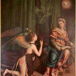Annuncazione Chiesa dei San Giovanni Evangelista, Montale (olio su tela)
