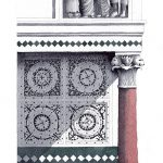 Disegno di Bill Holmes del pulpito scomposto della Cattedrale