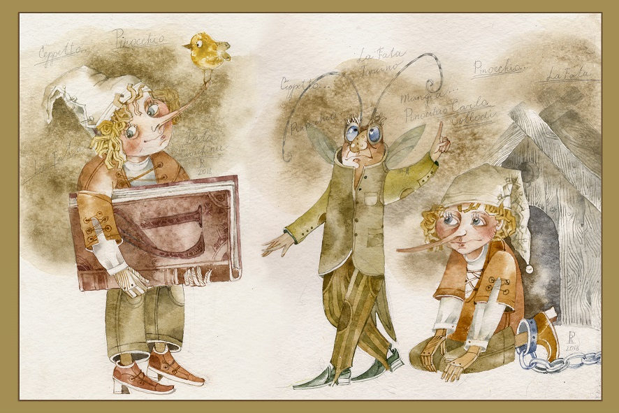 """A collodi la mostra """"Pinocchio e Buratino"""""""