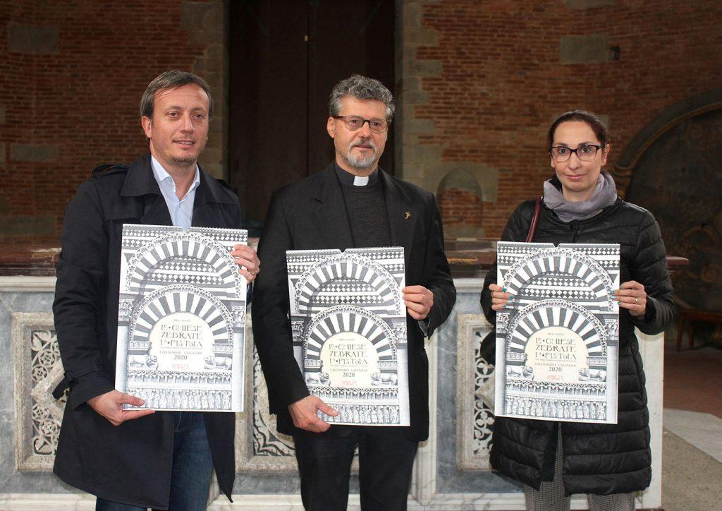 """Presentato il nuovo calendario 2020 """"Le Chiese Zebrate in Pistoia"""""""