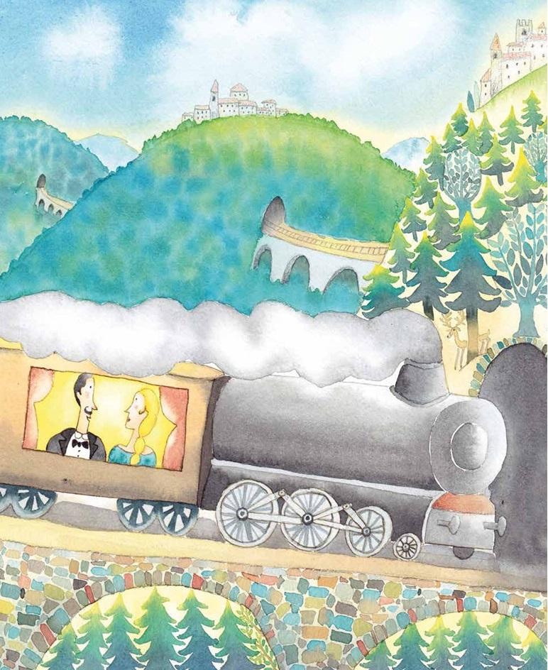 Sul treno con Protche e Selvaggia