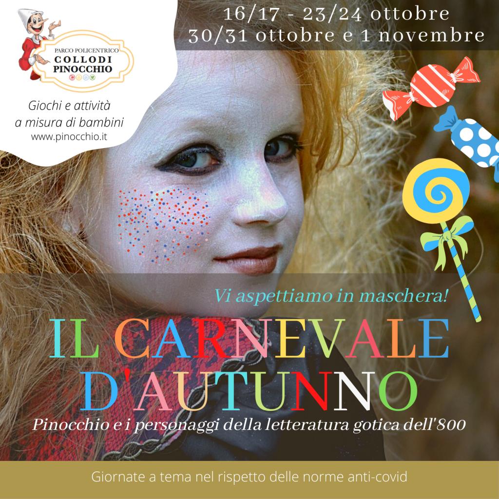 Torna il Carnevale d'autunno al Parco di Pinocchio